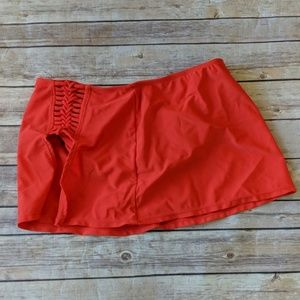 Catalina Red Swim Skort